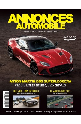 Annonces Automobile n°305 - aout/septembre 2018